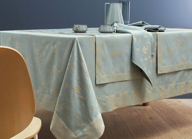 Nappe tissé Jaquard Butterfly Brume