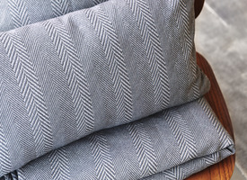 PLAID - CHEVRON Anthracite