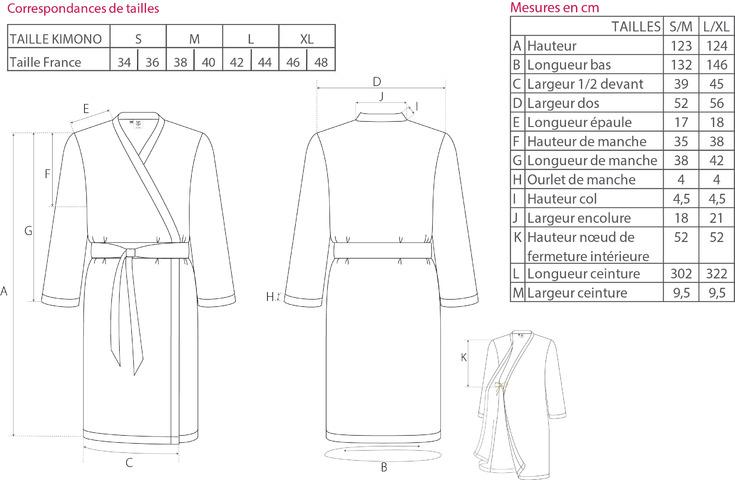 Guide des tailles kimono Blanc des Vosges